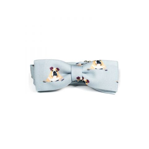 Bulldog Unisex Bow Tie by Veronica Perona