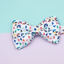 White 3angle Classic Bow Tie