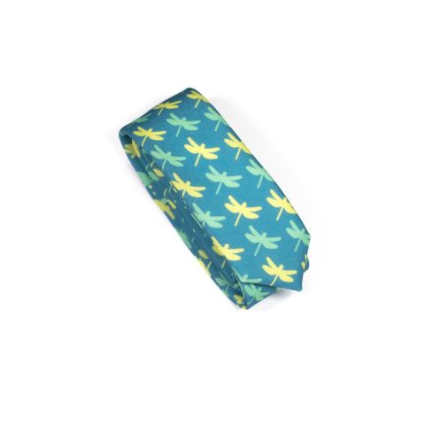 Insect Dragonfly Green Necktie