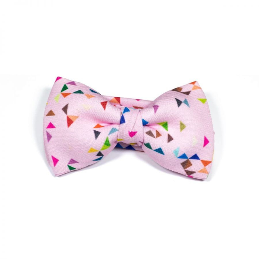 Pink 3angle Classic Bow Tie