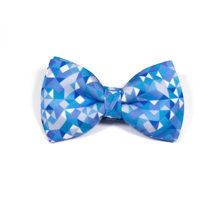 Blue 3angle Classic Bow Tie