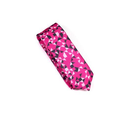 Dark Pink 3angle Necktie