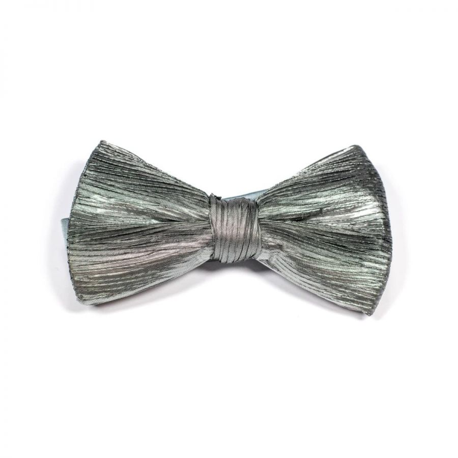 Elegant Plisado Lurex Classic Bow Tie