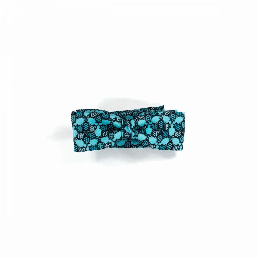 Wild Turtle silver unisex Bow Tie