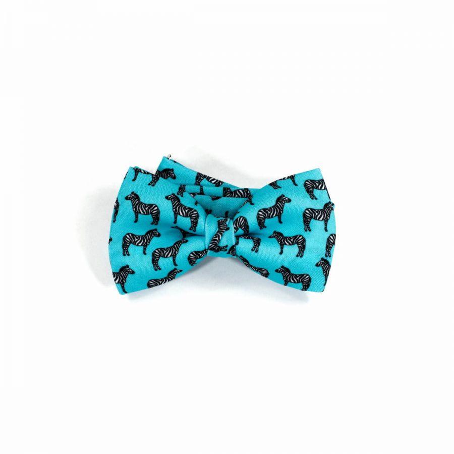 Zebra Classic Bow Tie by Veronica Perona