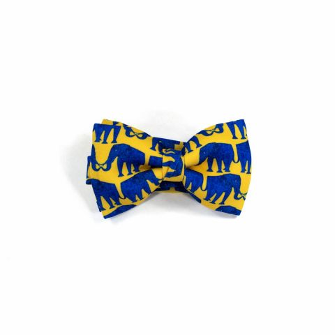 Elephant Classic Bow Tie by Veronica Perona